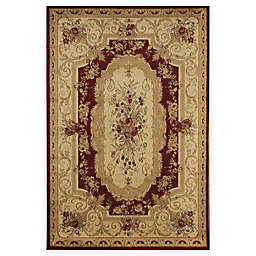 Rugs America Sorrento 5-Foot 3-Inch x 7-Foot 10-Inch Aubusson Area Rug in Red