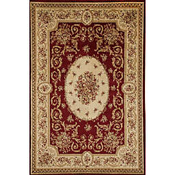 Rugs America Sorrento Medallion 7-Foot 10-Inch x 10-Foot 10-Inch Area Rug in Red