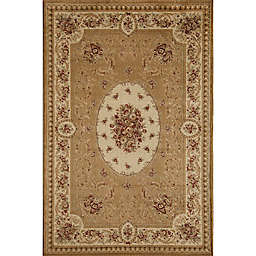 Rugs America Sorrento Medallion 7-Foot 10-Inch x 10-Foot 10-Inch Area Rug in Blue