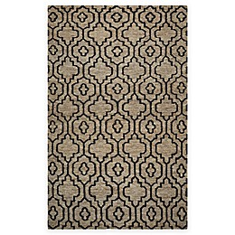 Rizzy Home Whittier Trellis Area Rug in Natural/Black