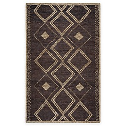 Rizzy Home Whittier Diamond Handcrafted Area Rug in Brown