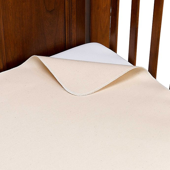 Alternate image 1 for Naturepedic® Organic Cotton Waterproof Flat Crib Pad Cover
