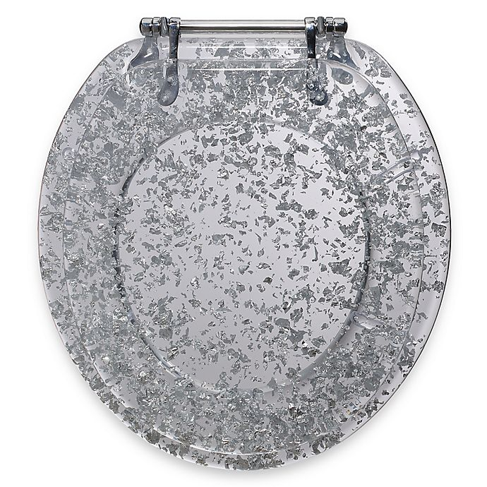 Alternate image 1 for Ginsey Silver Foil Resin Toilet Seat