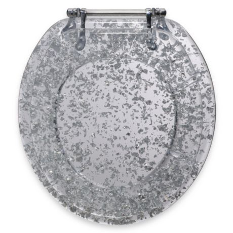 Astounding Ginsey Silver Foil Resin Toilet Seat Caraccident5 Cool Chair Designs And Ideas Caraccident5Info