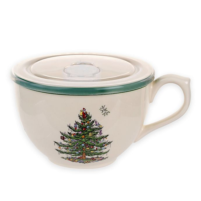 Alternate image 1 for Spode® Christmas Tree Jumbo Cup with Lid