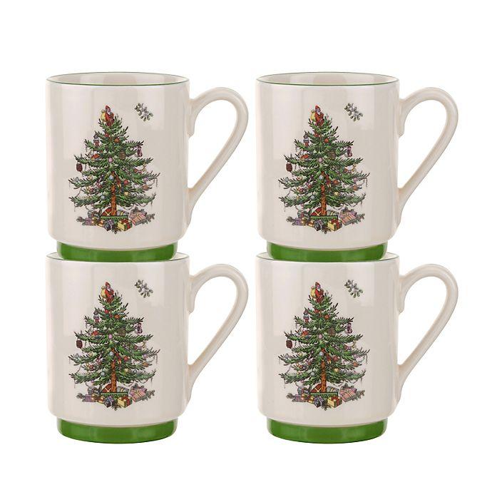 Alternate image 1 for Spode® Christmas Tree Stacking Mugs (Set of 4)