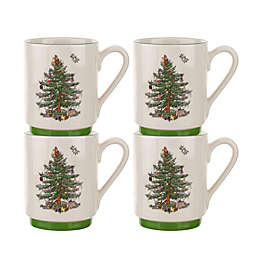 Spode® Christmas Tree Stacking Mugs (Set of 4)