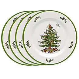 Spode® Christmas Tree Melamine Dinner Plates (Set of 4)