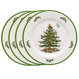 Spode® Christmas Tree Melamine Dinner Plates (Set of 4)
