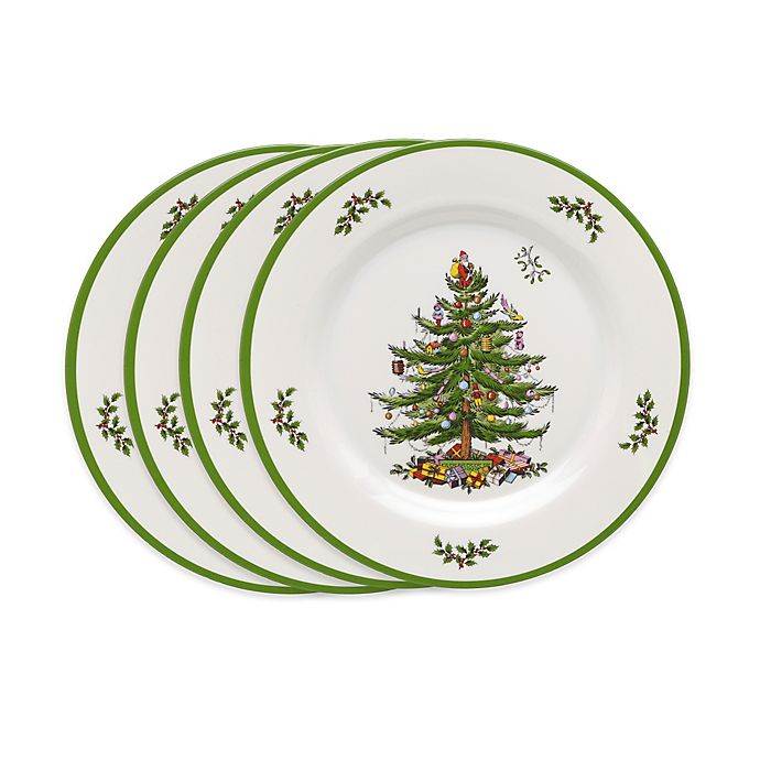 Alternate image 1 for Spode® Christmas Tree Melamine Salad Plates (Set of 4)