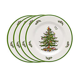 Spode® Christmas Tree Melamine Salad Plates (Set of 4)