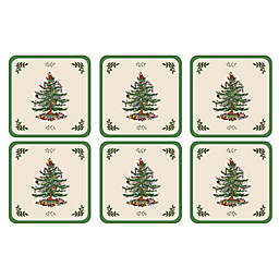 Spode® Christmas Tree Coasters (Set of 6)