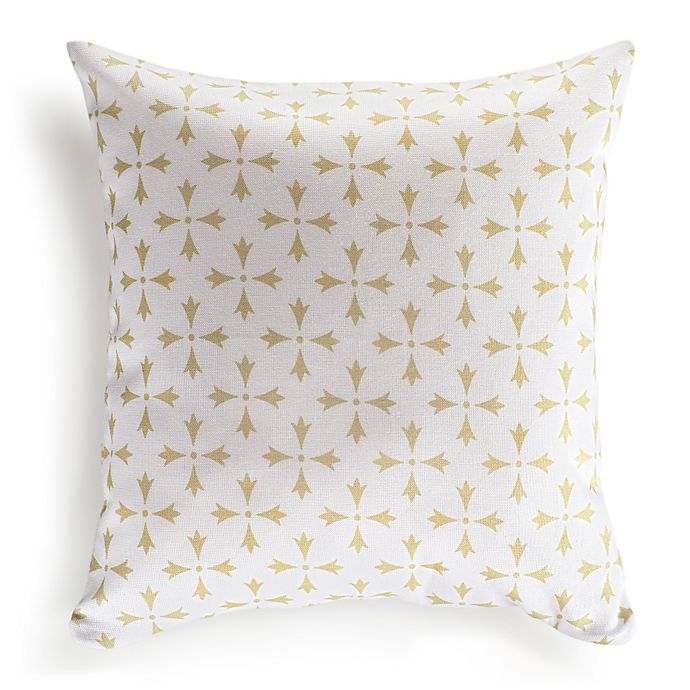 Nine Space Rhodes 16 Inch Square Throw Pillow Cover Bed