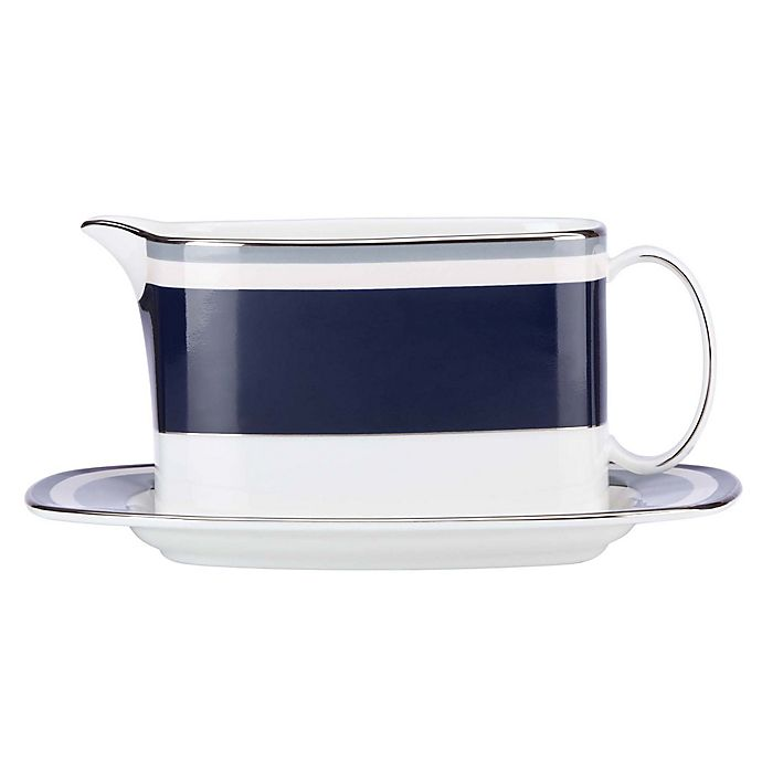 Alternate image 1 for kate spade new york Mercer Drive™ Gravy Boat with Stand