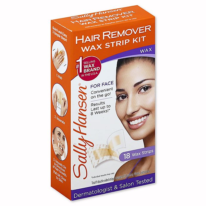 Sally Hansen Hair Remover Wax Strip Kit For Face Bed Bath Beyond