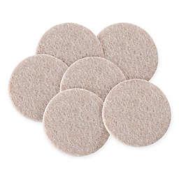 Waxman® 2-Inch 6-Pack Round Felt Pads in Oatmeal