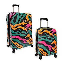 Traveler's Choice® Colorful Camouflage Expandable Spinner Suitcase