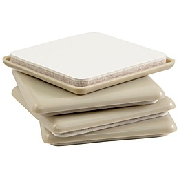 Waxman® 2-1/2-Inch Square 4-Pack Self-Stick SuperSliders