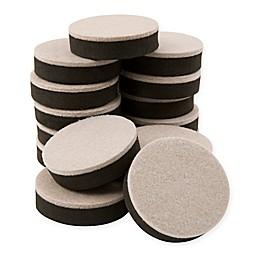 Waxman 2-1/2-Inch 16-Pack Round Reusable Felt Furniture Sliders
