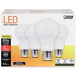 Feit Electric 4-Pack 9-Watt A19 Medium-Base Non-Dimmable LED Bulb