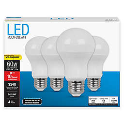Feit Electric 4-Pack 8.5-Watt A19 Medium-Base Non-Dimmable LED Bulbs
