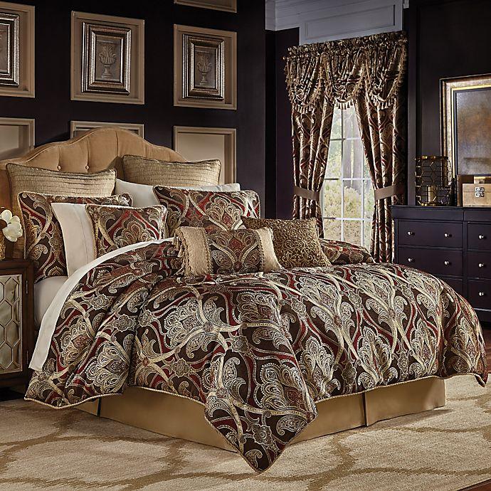 Croscill Bradney Comforter Set In Red Gold Bed Bath Beyond