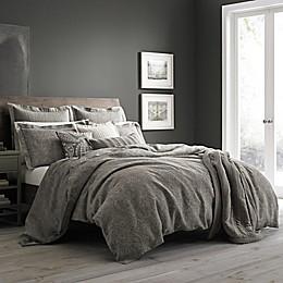 Wamsutta® Vintage Paisley Linen Duvet Cover in Grey