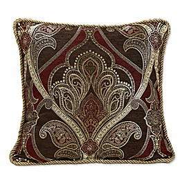 Croscill® Bradney Damask Throw Pillow in Red/Gold