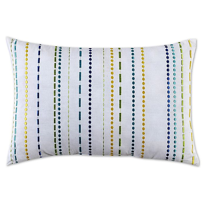 Alternate image 1 for Fiesta Embroidered Stripe Decorative Pillow