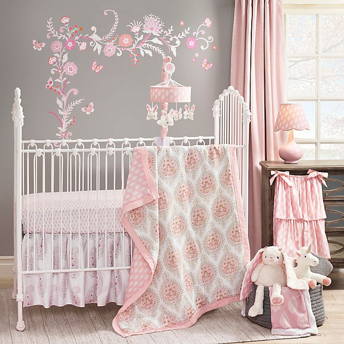 Alternate image 1 for Lambs & Ivy® Happi by Dena™ Charlotte 4-Piece Crib Bedding Set