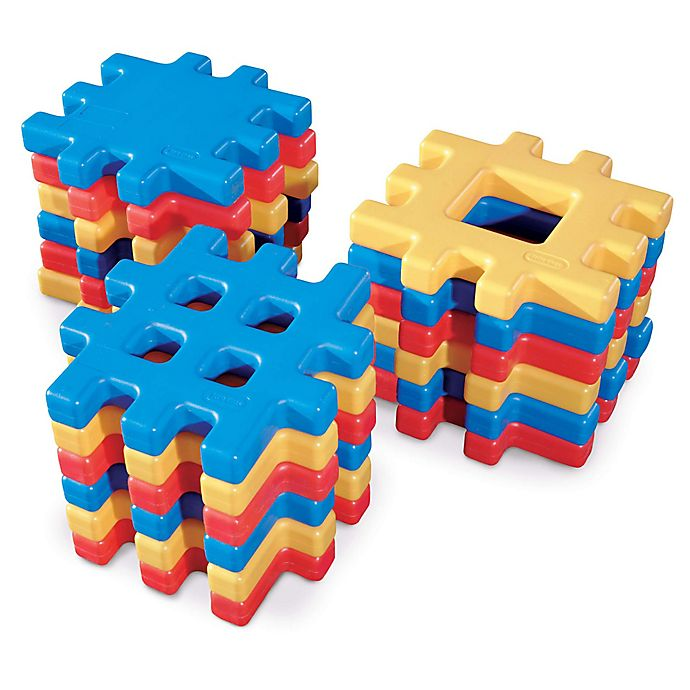 Alternate image 1 for Little Tikes 18-Piece Big Waffle Block Set