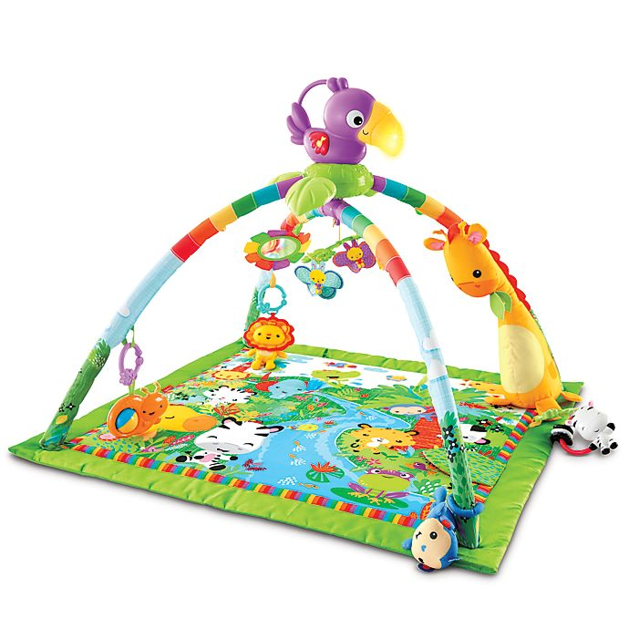 Alternate image 1 for Fisher-Price® Rainforest Music and Lights Deluxe Gym