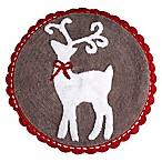 Reindeer Games 25-Inch x 25-Inch Bath Rug