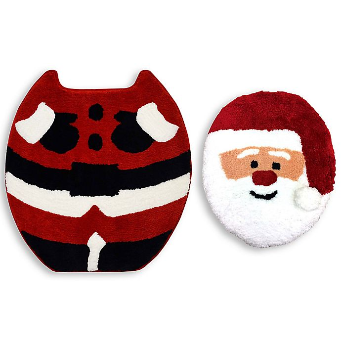 Alternate image 1 for Christmas Santa 2-Piece Bath Set