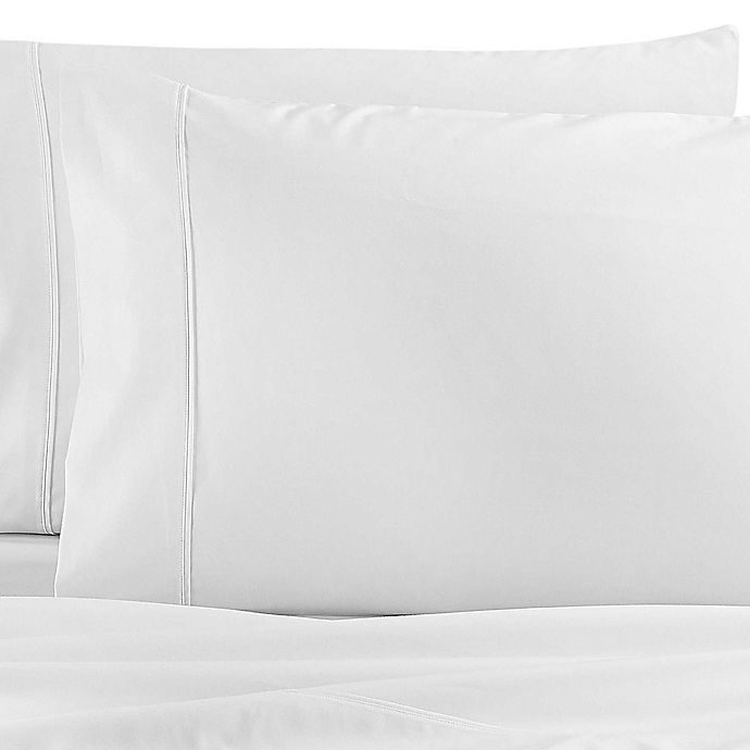 Alternate image 1 for Wamsutta® Dream Zone® PimaCott Solid 1000-Thread-Count California King Sheet Set in White