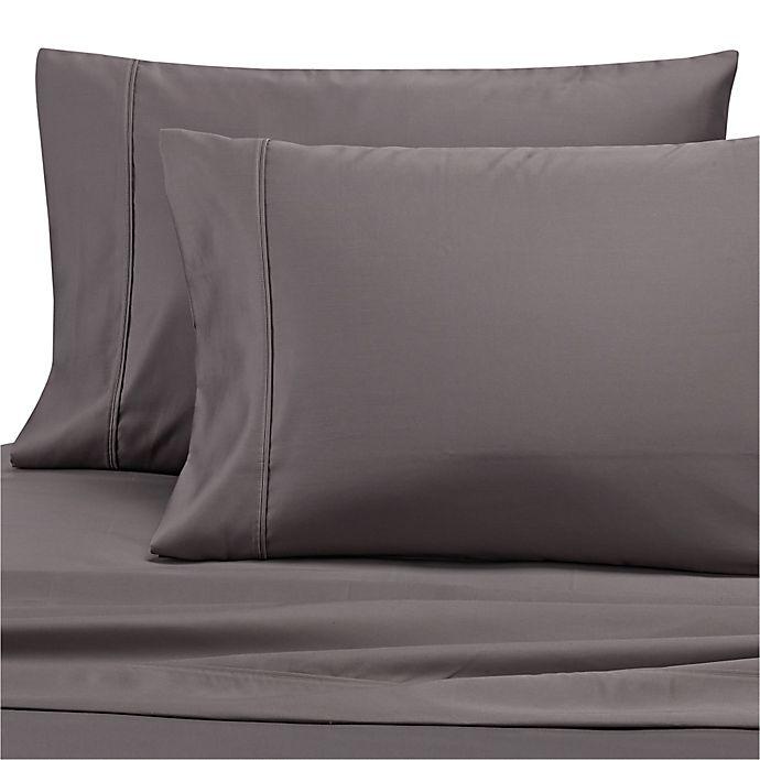Alternate image 1 for Wamsutta® Dream Zone® 1000 TC PimaCott® King Pillowcase in Charcoal (Set of 2)