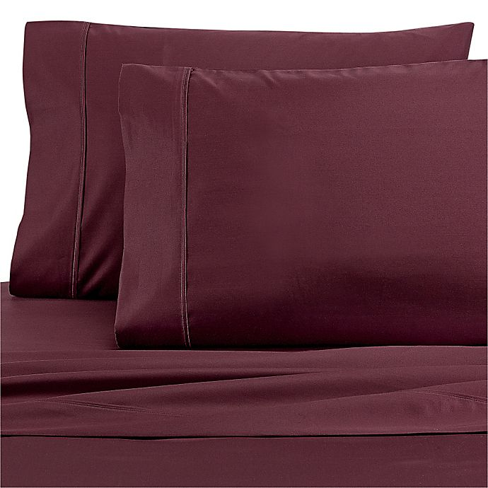 Alternate image 1 for Wamsutta® Dream Zone® 1000-Thread-Count PimaCott® Twin Sheet Set in Mauve