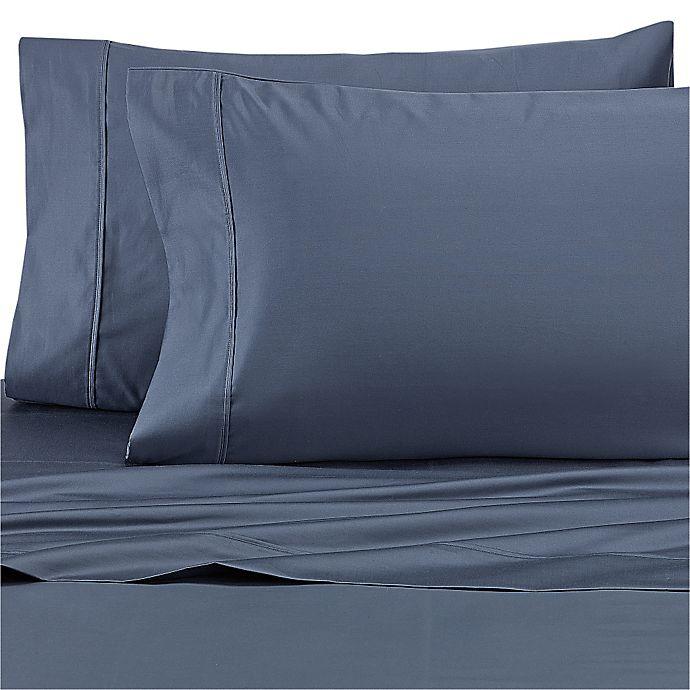 Alternate image 1 for Wamsutta® Dream Zone® 1000-Thread-Count PimaCott® King Sheet Set in Blue