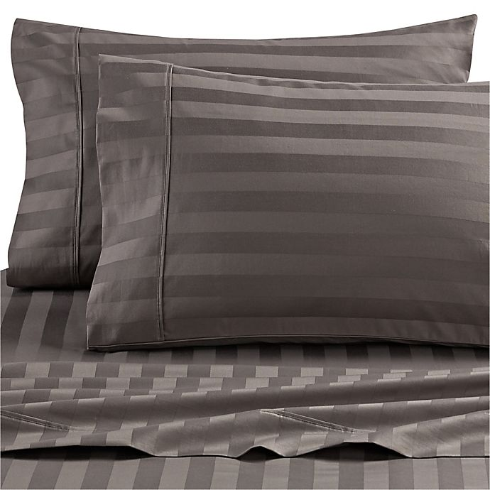 Alternate image 1 for Wamsutta® Dream Zone® 1000-Thread-Count PimaCott® Queen Sheet Set in Charcoal