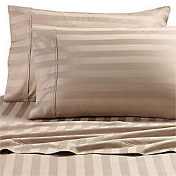 Wamsutta® Dream Zone® Stripe PimaCott® King Sheet Set in Taupe