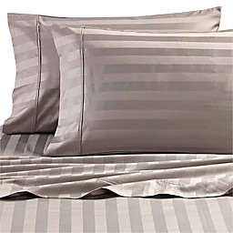 Wamsutta® Dream Zone® Stripe PimaCott® King Pillowcases in Grey (Set of 2)