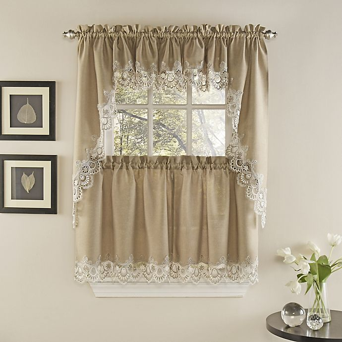 Palais Kitchen Window Curtain Tiers And Valance