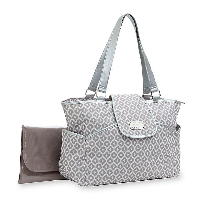 Alternate image 1 for carter's® Fashion Flap Diaper Bag Tote