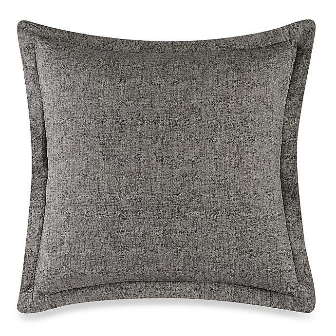 Alternate image 1 for Wamsutta® Vintage Paisley Linen Euro Pillow Sham in Grey