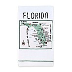 My Place Florida Hand Towel in White