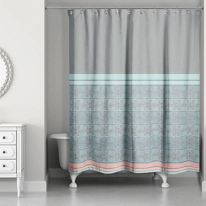 Pastel Boho Tribal Shower Curtain