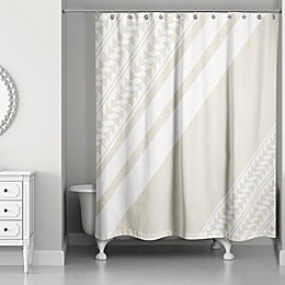 Arrows and Stripes Shower Curtain in Ivory