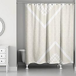 Decorative Quatrefoil Shower Curtain in Ivory/Cream