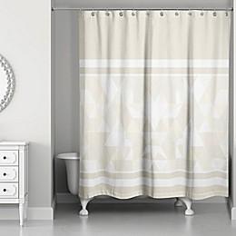 Gradient Block Shower Curtain in Ivory/Cream