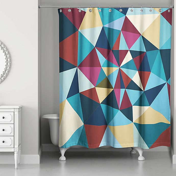 Alternate image 1 for Colorful Prism Pattern Multicolored Shower Curtain